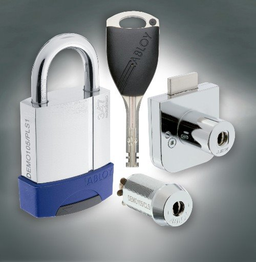 Padlock, cam and cabinet lock and key